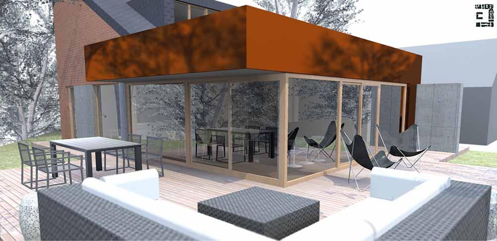Actu Extension D Habitation Angleur Li Ge Projet Christophe Dufour Architecte